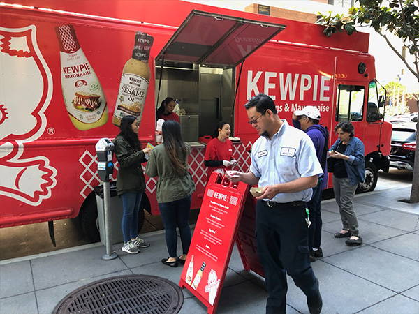 Serving customers on Mission street