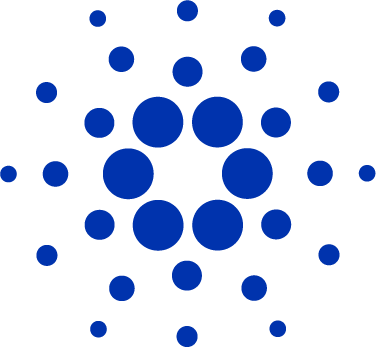 Cardano icon only in blue