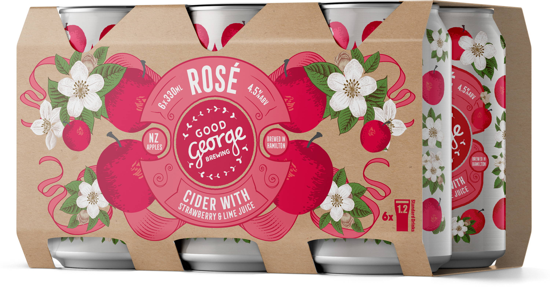 Good George Rose Cider 6 Pack Cans