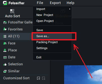 make a duplicate by using fotosifter