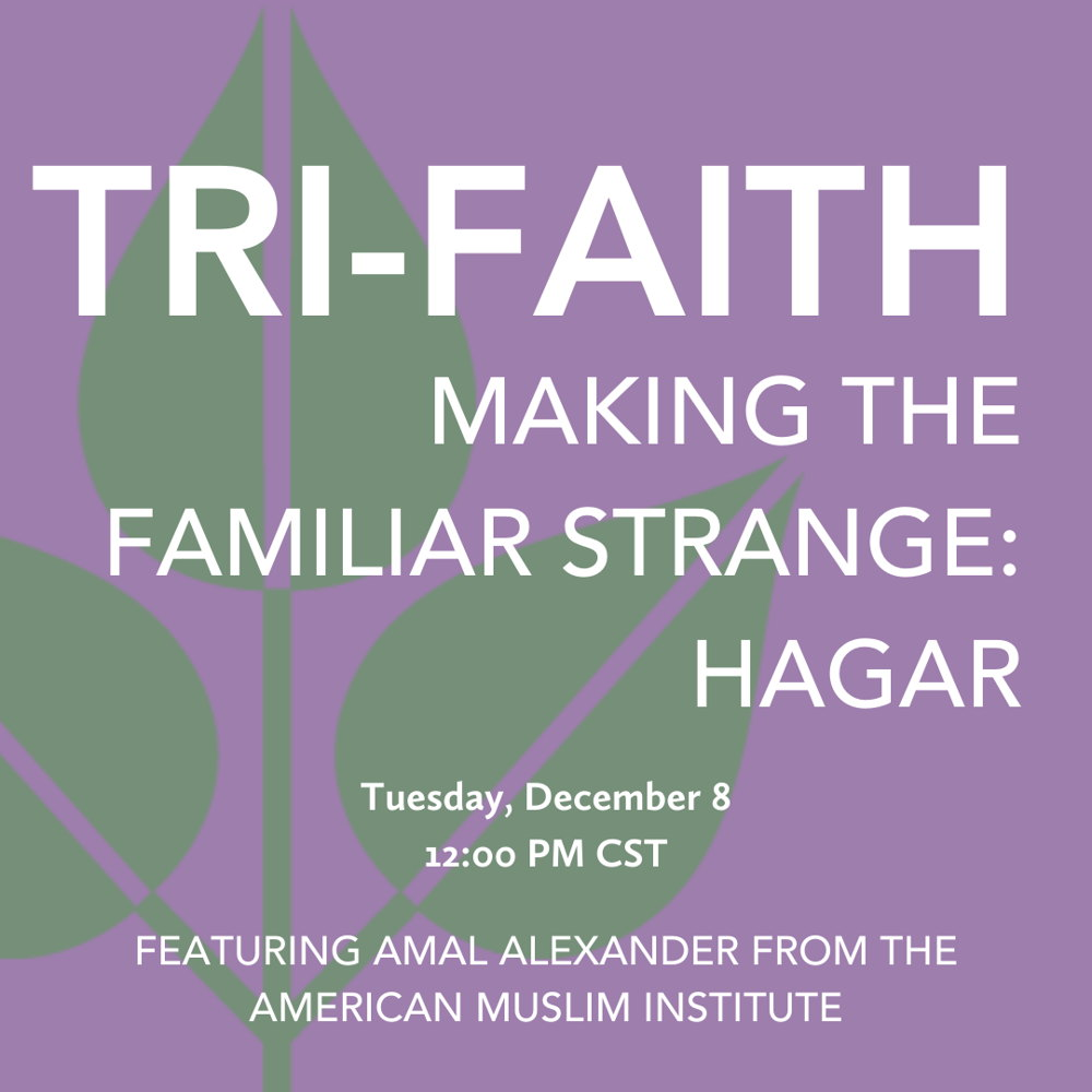 Picture of As we continue through Abrahamic stories, we will be discussing Hagar from multiple perspectives.