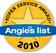 2010 Angies List Super Service Award