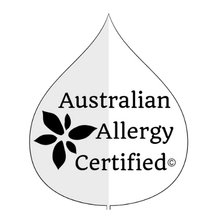 image showing logo of Australian allergy certified skincare