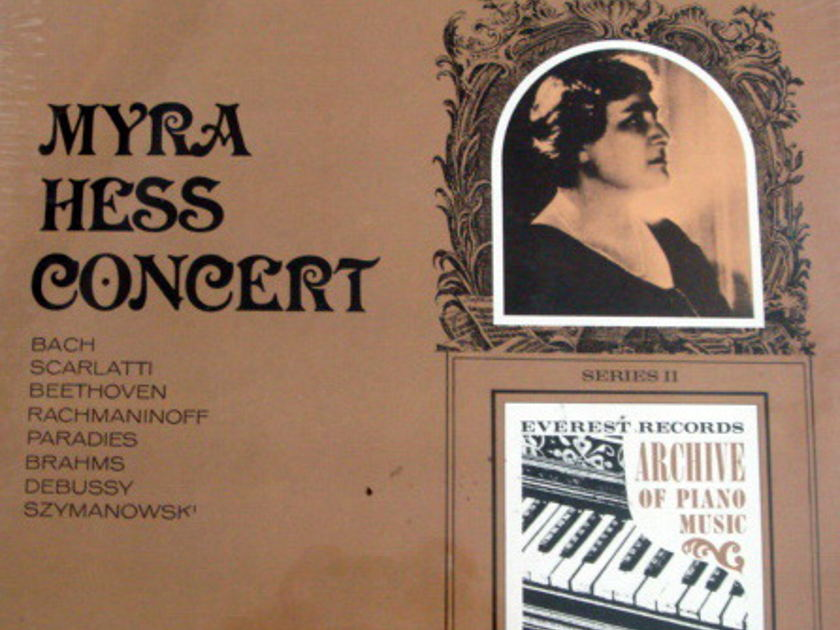 ★Sealed★ Everest /  - MYRA HESS Concert, Bach-Scarlatti-Beethoven piano Music!