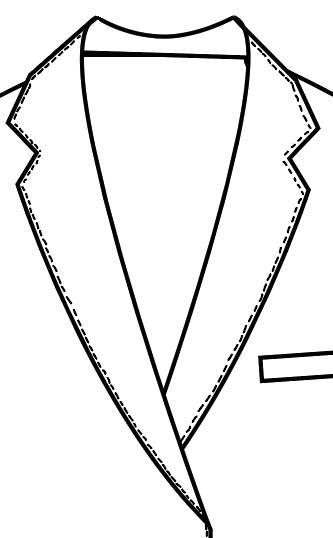 TailorMate   Pick stiching revers blazer