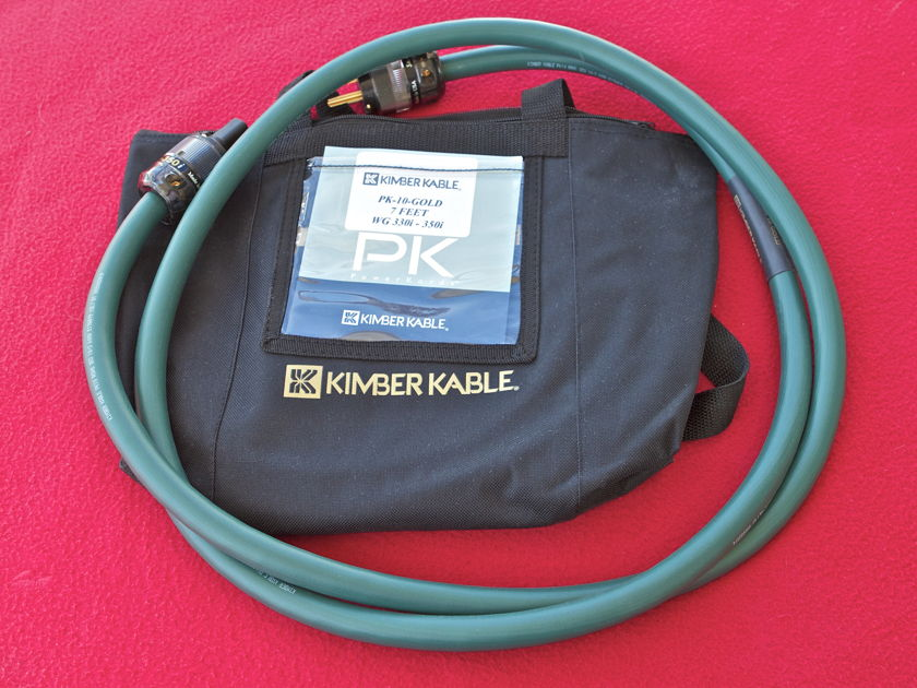 Kimber Kable PowerKord10 GOLD Power Cable 7FT