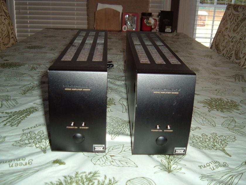 Marantz  MA-500 Pair Of Monoblock Amplifiers; 125w x1