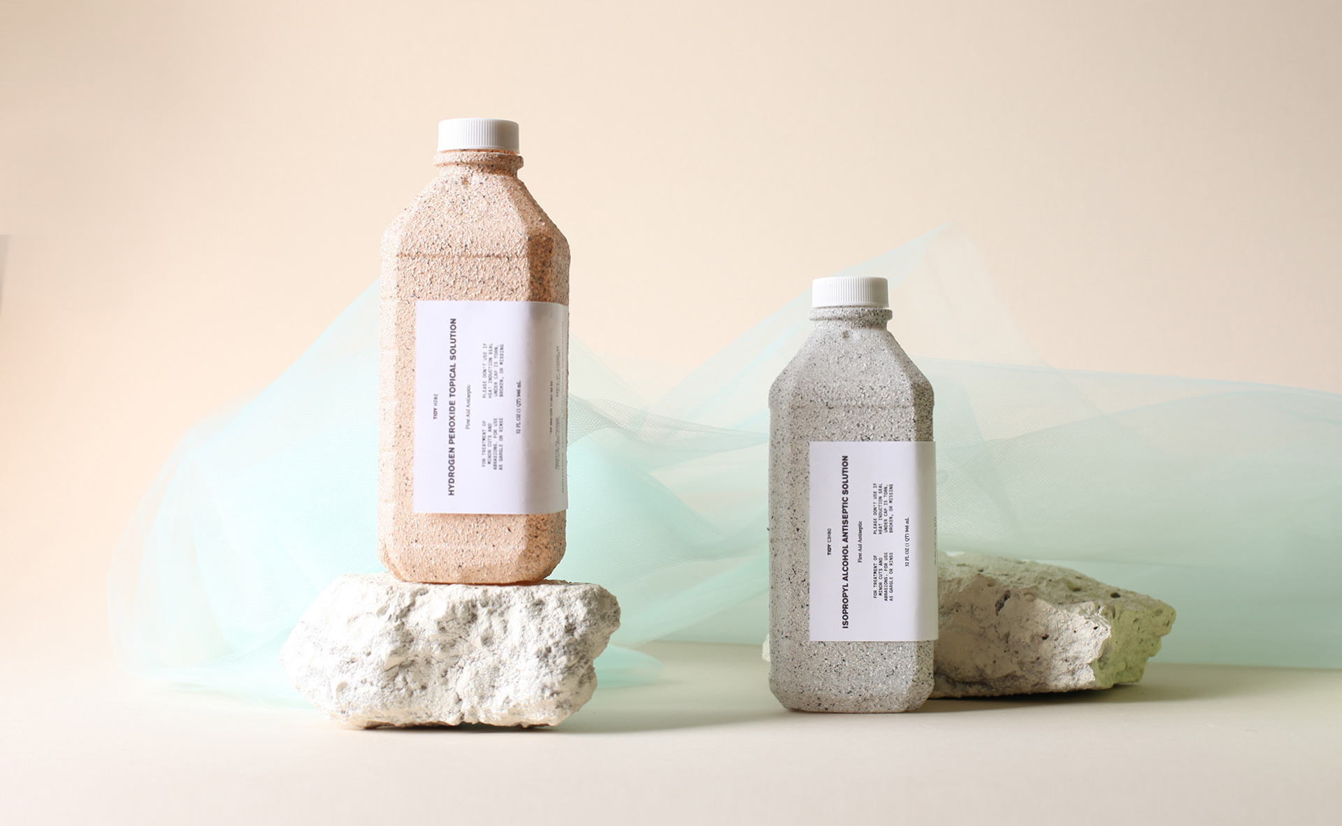 Concept Tidy Products Uses Texture To Highlight Antiseptic's Qualities
