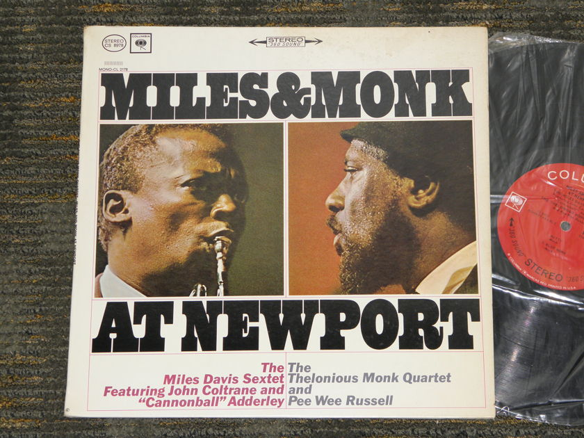 "Miles Davis+Thelonious Monk - ""Miles&Monk At Newport"" Columbia CS 8978 '60'ies Black Print ""First labels"" STEREO"