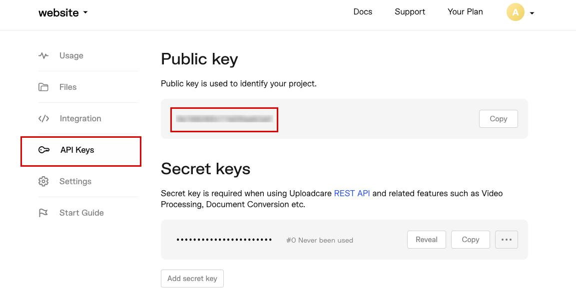 Getting your public key