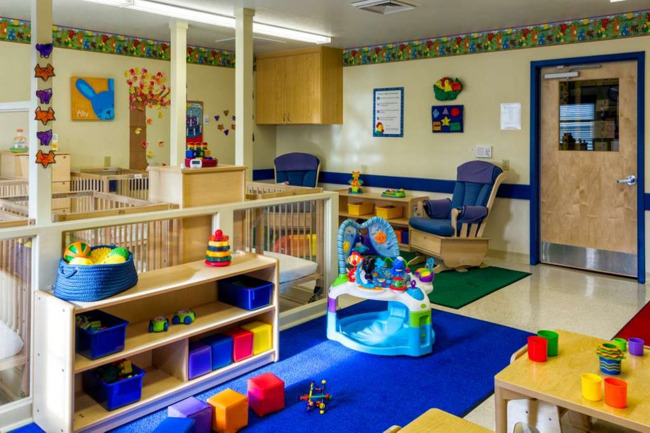 Interior of a day care center