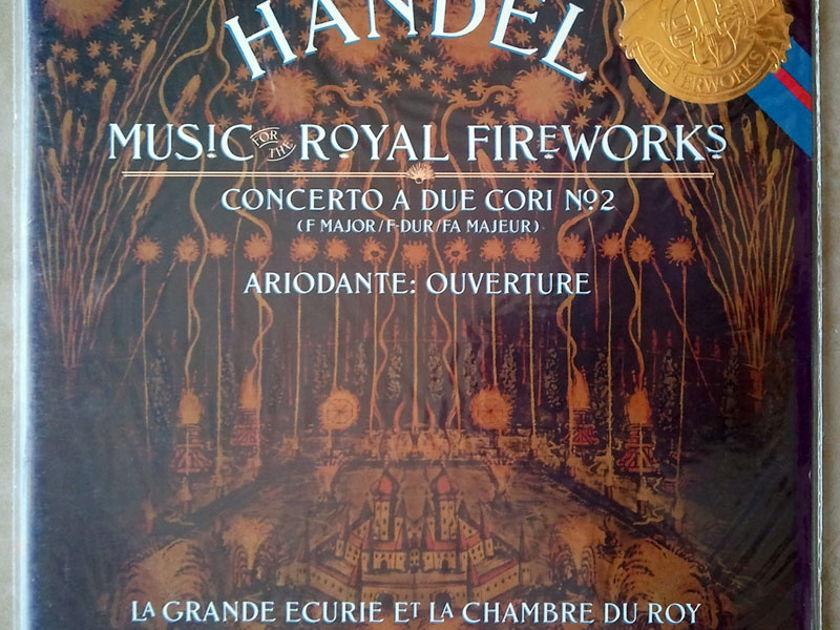 Sealed CBS   MALGOIRE/HANDEL - Fireworks Music, Concerto A Due Cori No. 2, Ariodante Overture