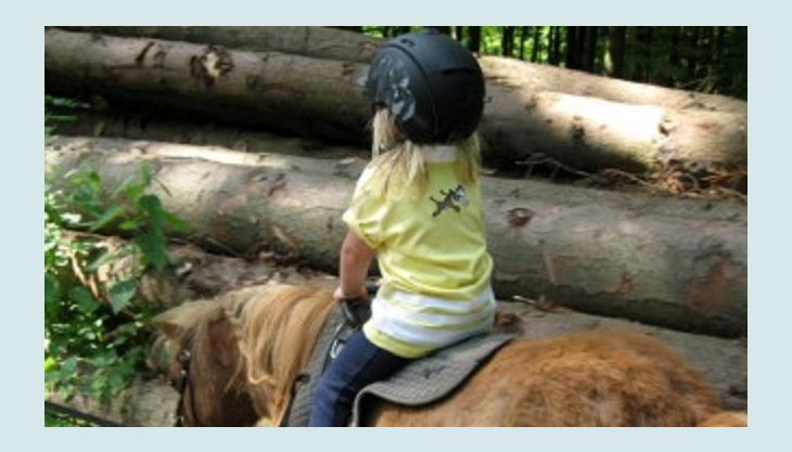 ponnyland kind reitet