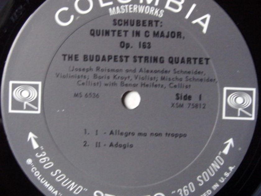Columbia 2-EYE / BUDAPEST QT-HEIFETZ, - Schubert String Quintet in C, MINT!