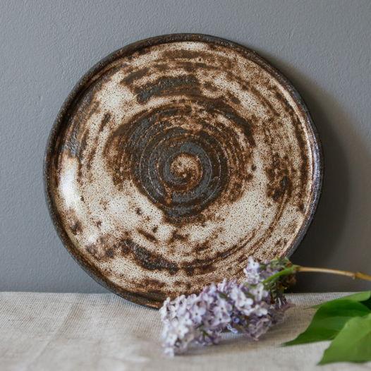 Тарелка керамическая плоская