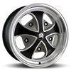klassik rader falcon black machined and grey wheel