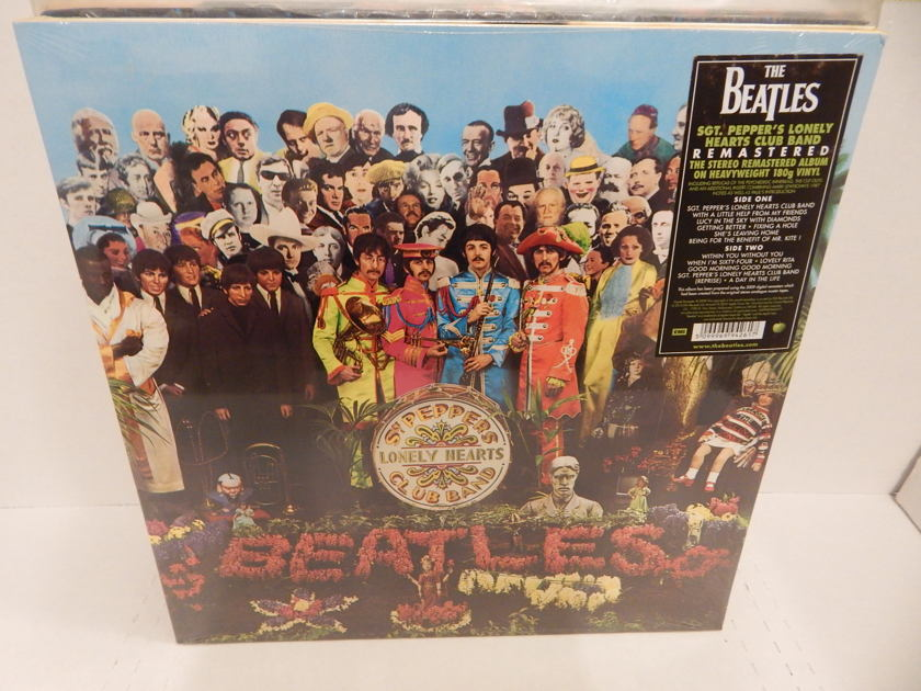 THE BEATLES SGT. PEPPER'S LONELY HEARTS CLUB BAND - 180 Gram Heavy Weight Brand New Factory Sealed & Sticker MINT LP