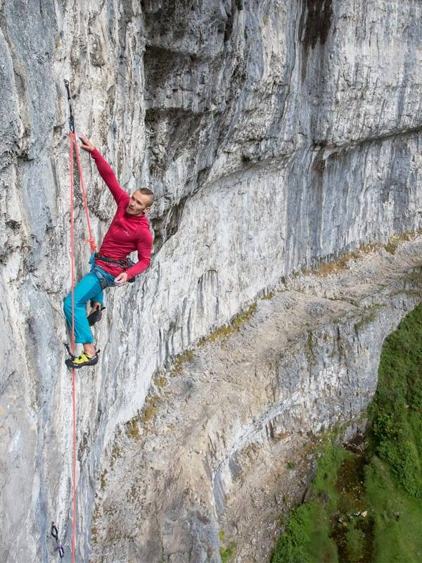 John Thornton climbing