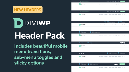 DiviWP Header Sections