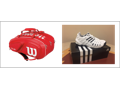 Wilson Tennis Racket Bag & Adidas Tennis Shoes