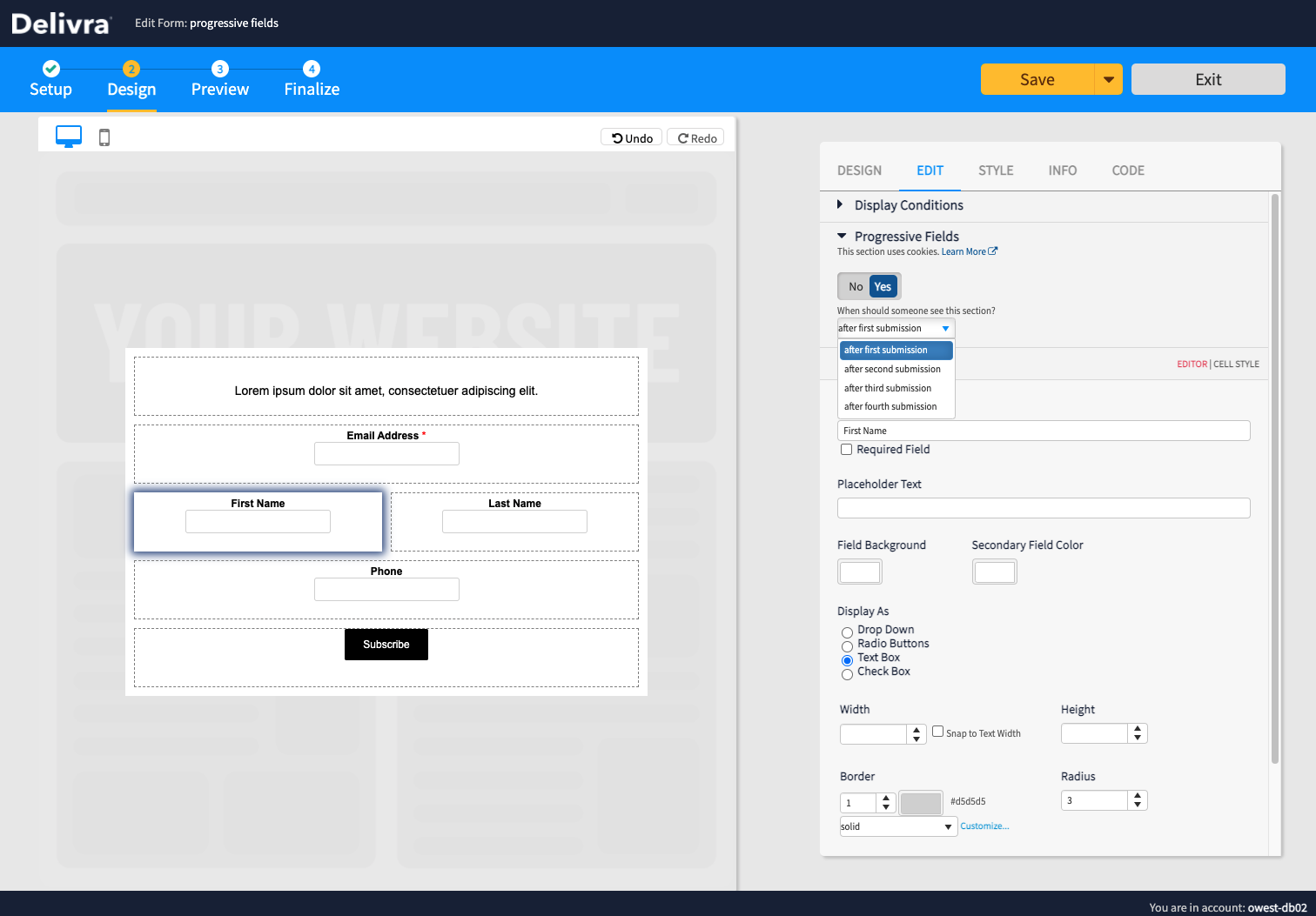 The new progressive profiling feature in Delivra can boost your sales, build better lead profiles, and increase your conversion rates with shorter forms.