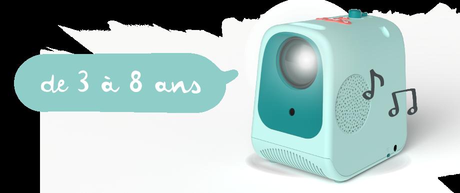 Tikino un projecteur conçu pour les enfants de 3 à 8 ans