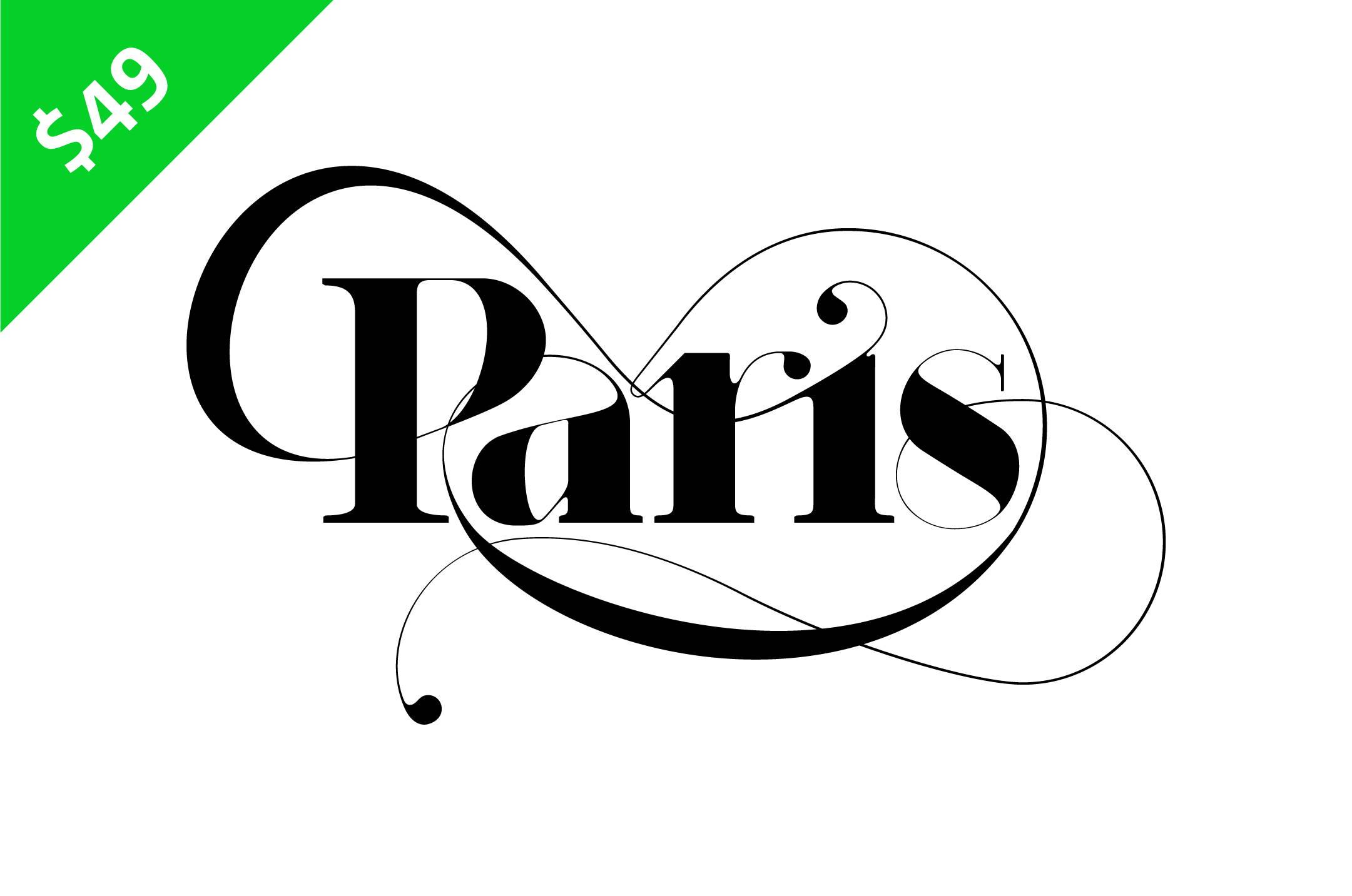 Paris Typeface - Iconic typeface for fashion magazines by Moshik Nadav Typography