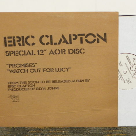 "Eric Clapton SPECIAL 12"" AOR DISC ""Promises"""