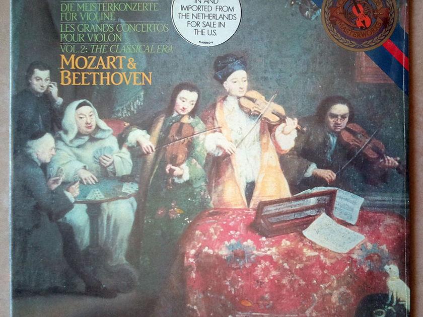 Sealed CBS   STERN/BEETHOVEN - & MOZART Violin Concertos / Imported Pressing