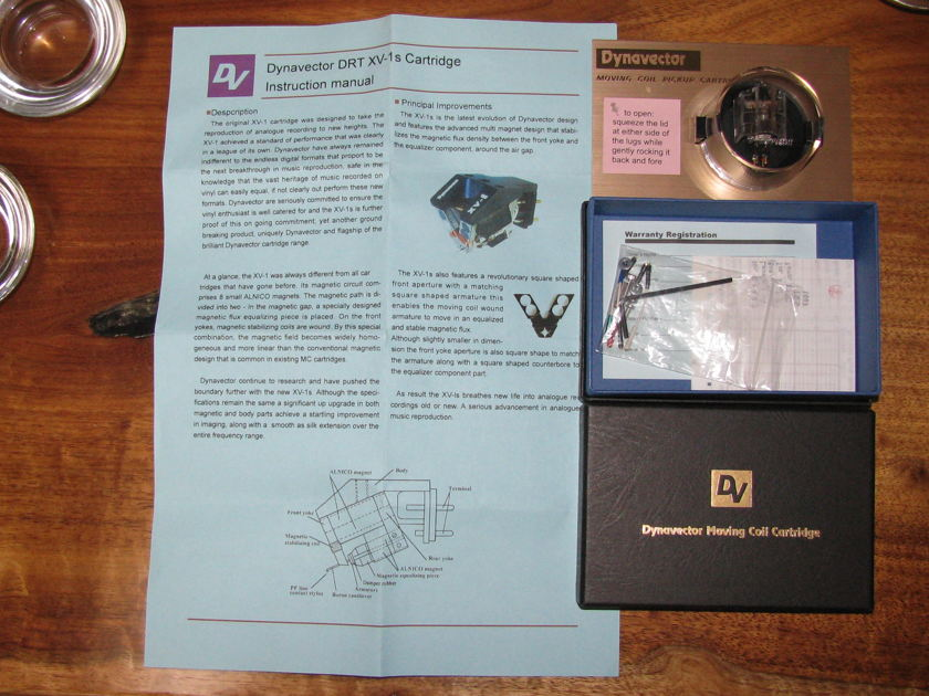 DYNAVECTOR DRT XV-1s MC Cartridge