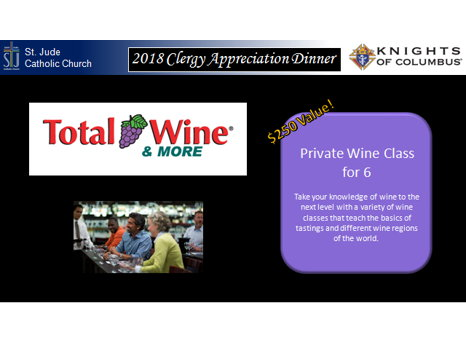 Total Wine and More - Wine Class