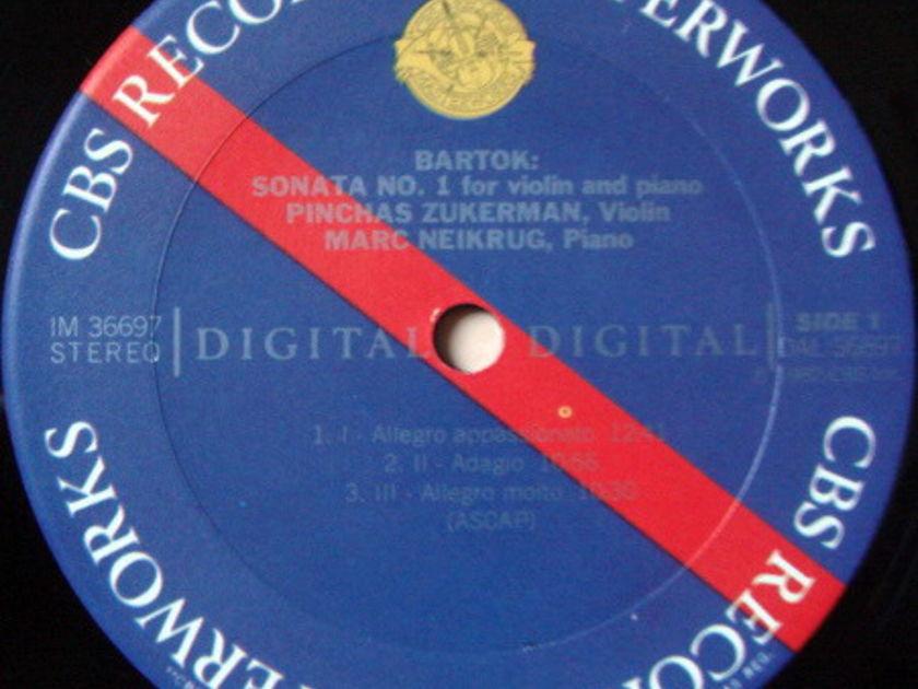 CBS Digital / ZUKERMAN-NEIKRUG, - Bartok Violin Sonatas No.1 & 2, NM!