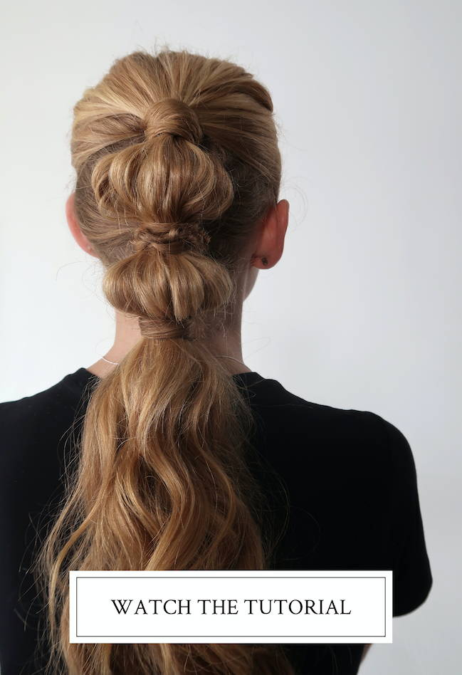 Tiered ponytail hair tutorial using Davines products