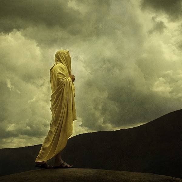 LDS art painting of Jesus Christ walking along Jerusalem hills.