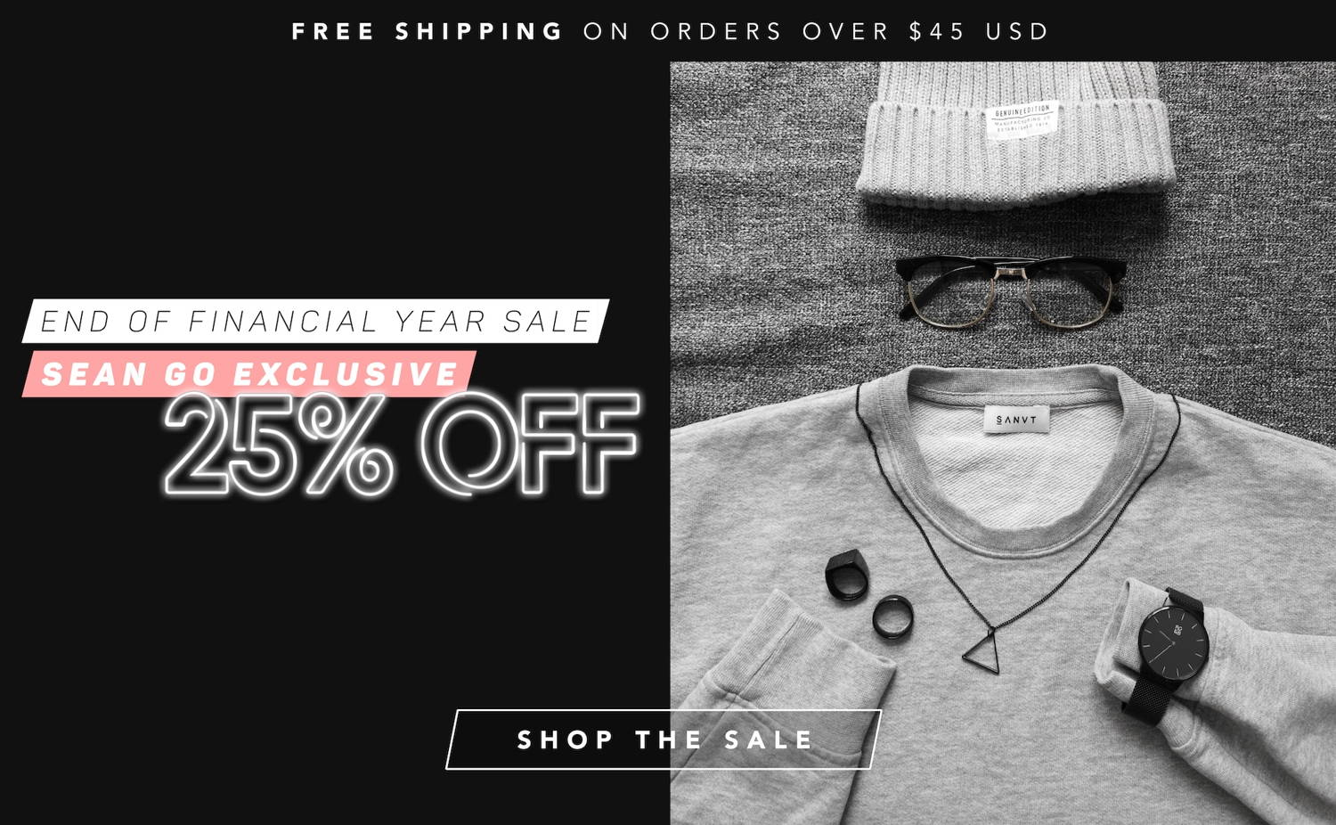 Sean Go 25% Off