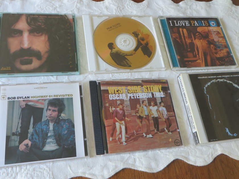 rare gold discs - zappa, dylan, etc.