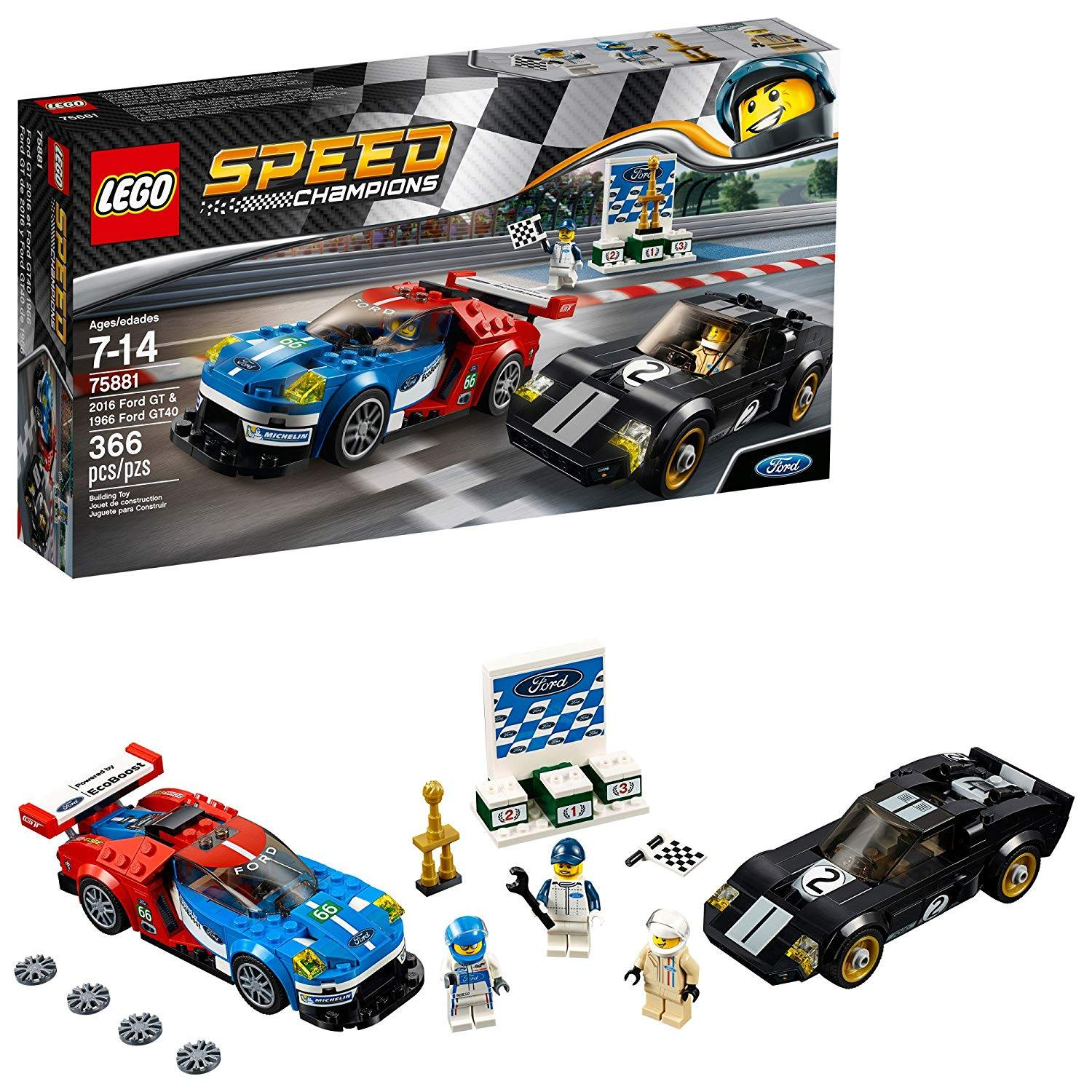 LEGO 75881: 2016 Ford GT & 1966 Ford GT40