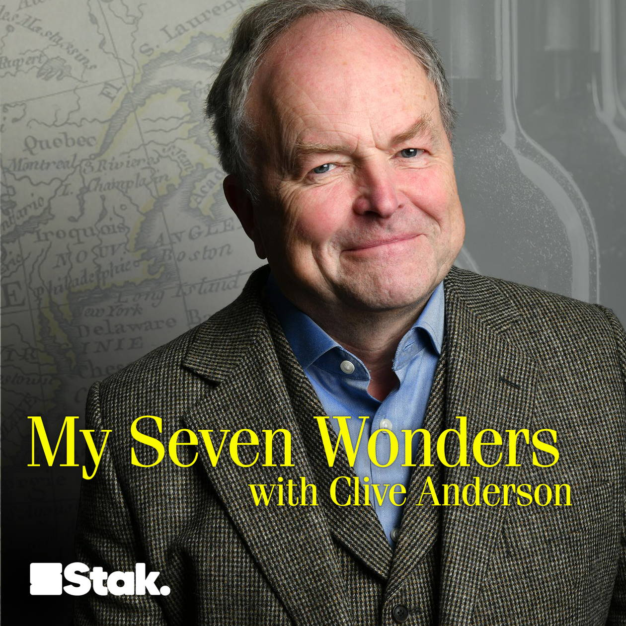 Artwork for the My Seven Wonders with Clive Anderson podcast.