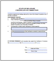 delaware certificate of renewal / revival