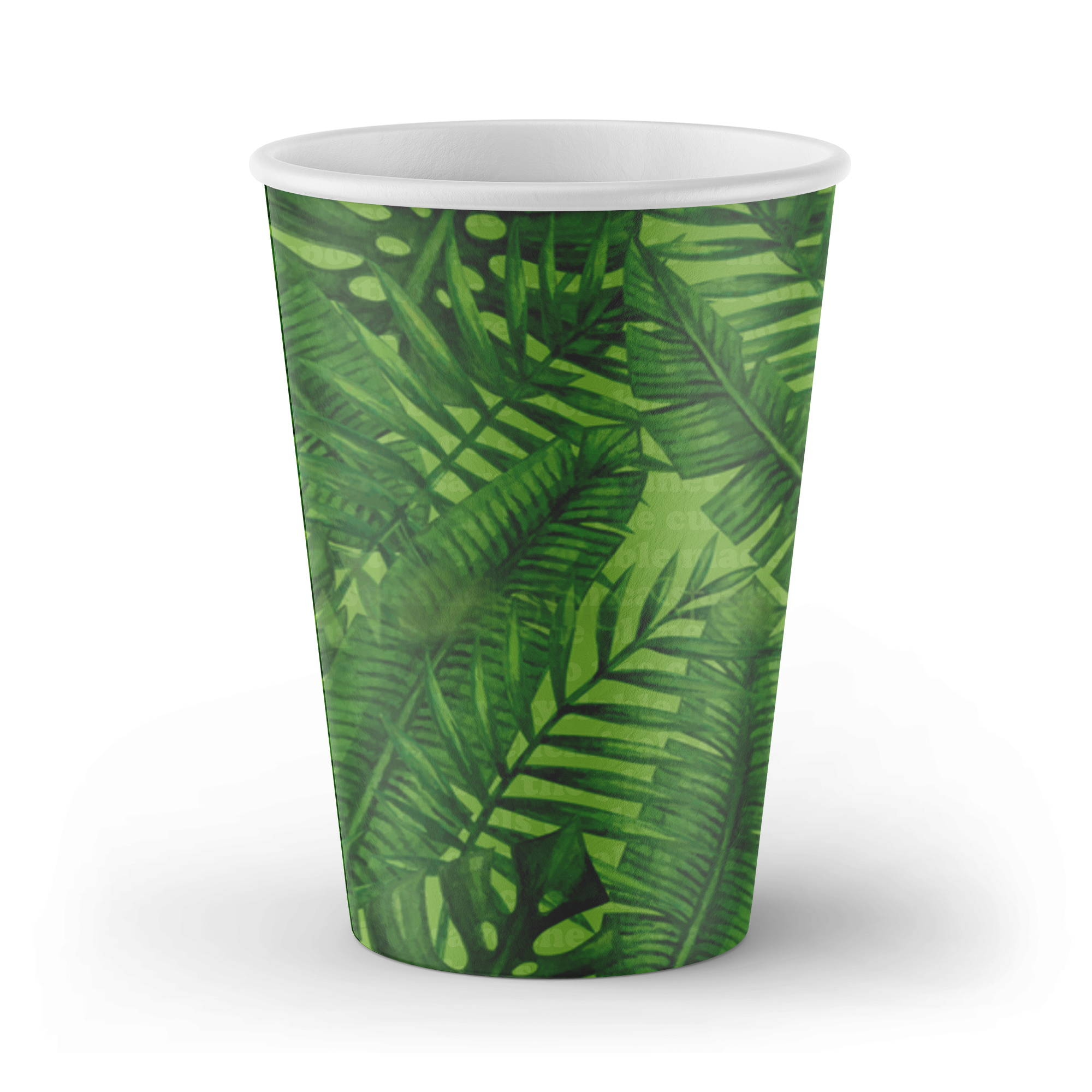 biodegradable cups, custom cups with fern design