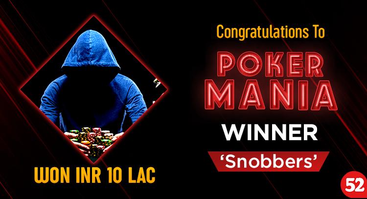 snobbers Wins Adda52 Mania