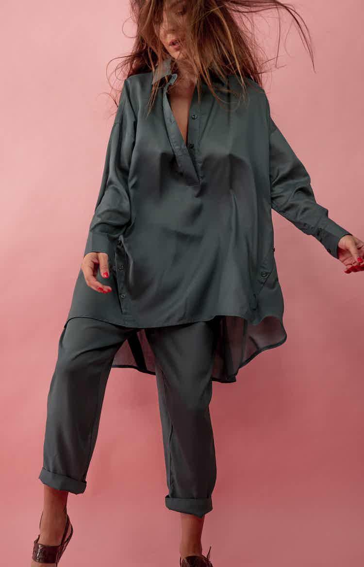 Emerald cotton suit