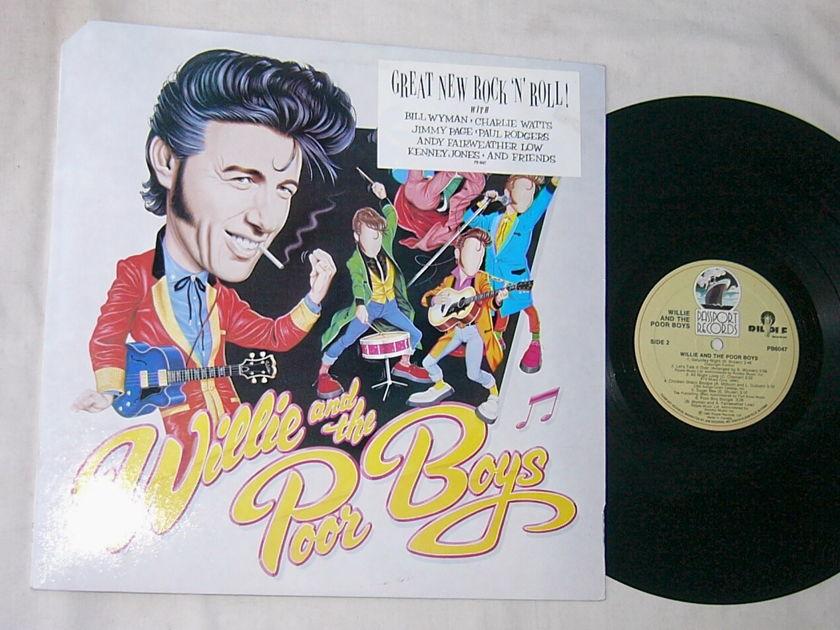WILLIE & THE POOR BOYS - - SELF TITLED - RARE ORIG 1985 BLUES LP - BILL WYMAN