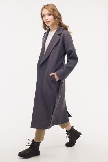 Пальто-халат цвета графит