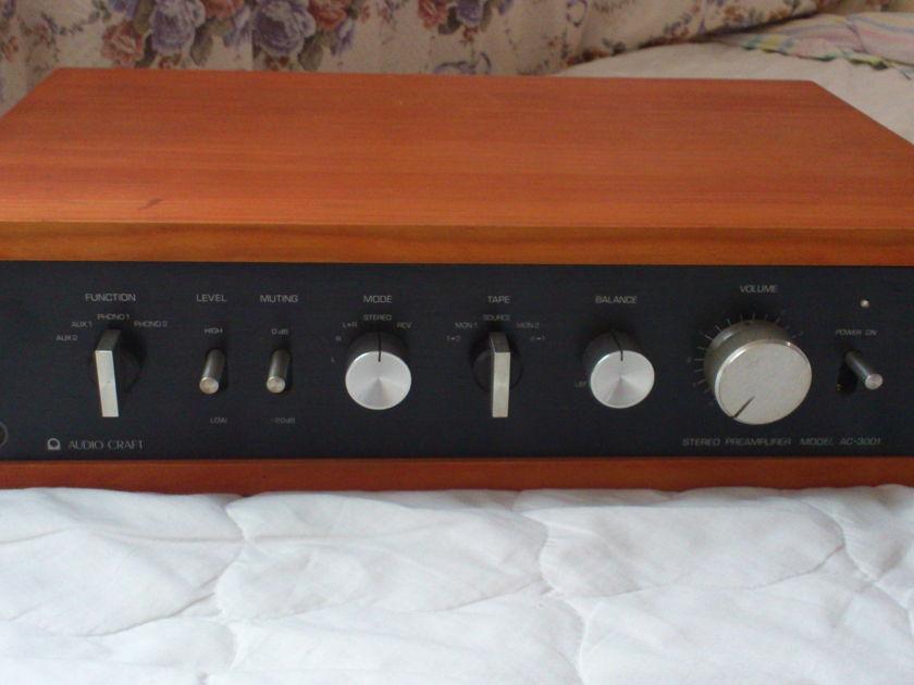 Rare AudioCraft AC-3001 PreAmp