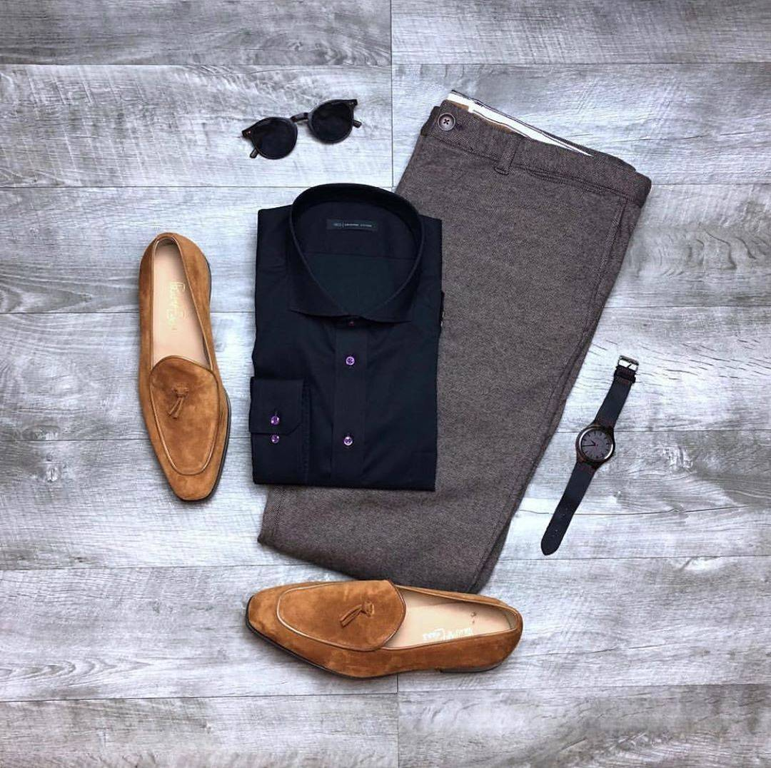 flatlay mens casual outfit