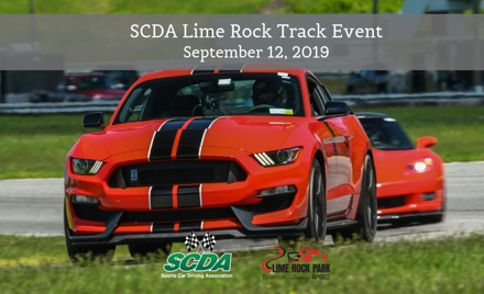SCDA- Lime Rock Park- Track Event- September 12th
