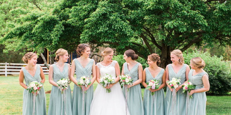 Sage and Navy Farm Wedding
