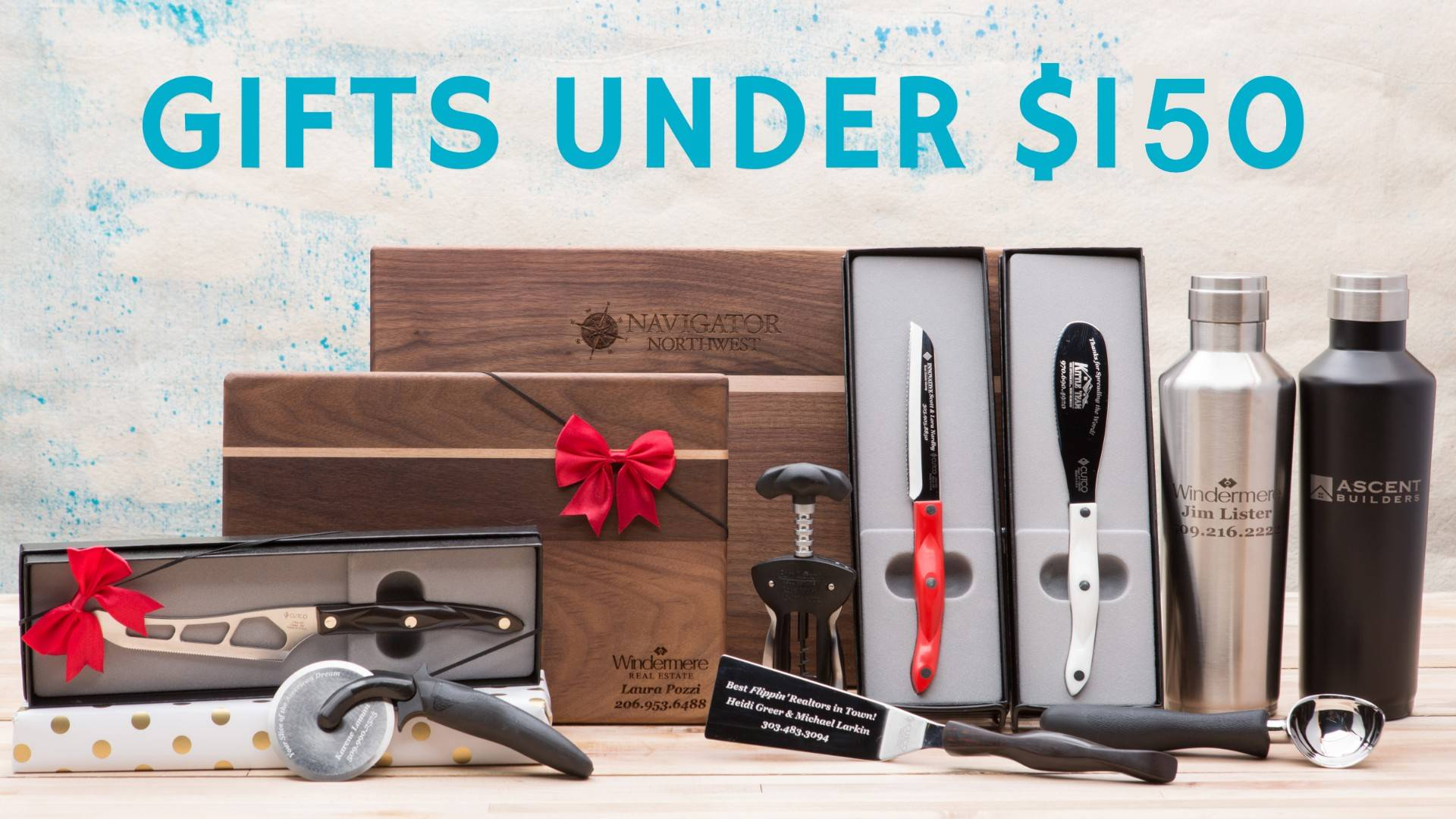 Branded client gits closing gifts Under $150