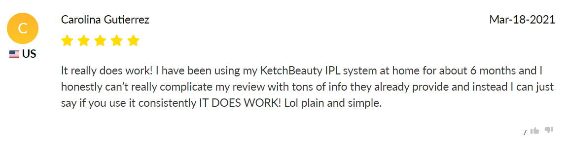 KetchBeauty IPL Review